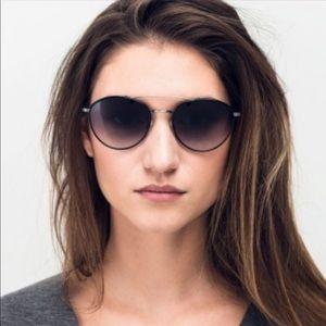 Barton Perreira Gamine Brown Aviator Sunglasses